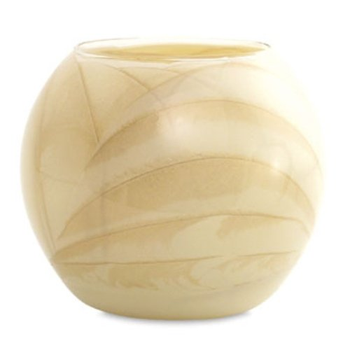 Northern Lights Candles Esque Polished Globe - 4 inch Ivory