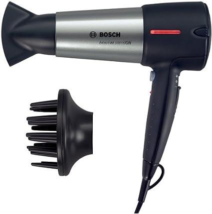 Bosch PHD7960 beautixx silentION - Secador de pelo con tecnología de iones, color plateado/