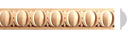 1-1/4''W x 8ft 10pc Total 80ft. Full Egg and Dart Beech Wood, Red Oak, Maple Wood Molding Moulding (Maple) by Zakros Design