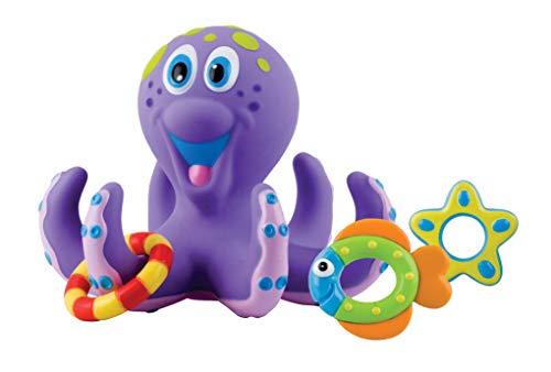 Nuby ID6144AN Kinderspeelgoed, Drijvende Octopus Met 3 Ringen, Octopus En Ringen Drijven Op Het Water, Voor Kinderen…