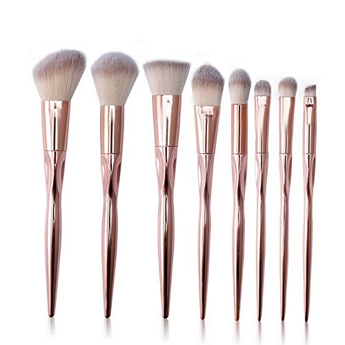 - Kaputar 12PCS Cosmetic Makeup Brushes Set Kabuki Foundation Face Powder Eyeshadow Brush | Model MKPBRSH - 1799 | 8PCS Gold