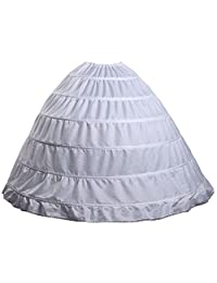 Fanhao 6 Hoops Skirt for Women Wedding dress Bridal Petticoat/Underskirt/Crinoline/Slip