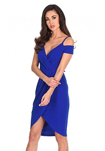 AX Paris Women's Wrap Around Dress(Cobalt, Size10)