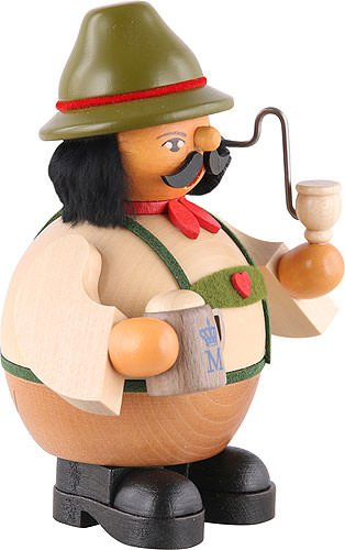 Müller German incense smoker Bavarian on Oktoberfest, height 14 cm / 6 inch, original Erzgebirge by Mueller Seiffen