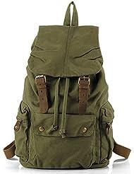 Leaper Causal Lightweight Canvas Laptop Bag Shoulder Bag School Backpack