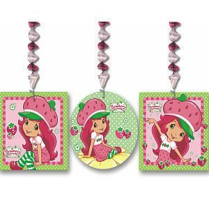 Strawberry Shortcake Birthday Party Supplies - Dangling Wall Decoration ()