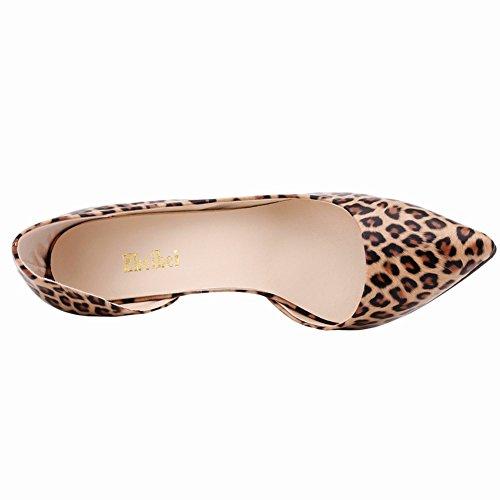 Pumps Womens Pointed DOrsay Leopard OL toe Fereshte Slip Elegant High Heels On adqx7vwg