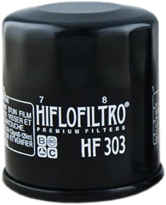 2 Pack Hiflofiltro HF303RC-2 Black 2 Pack Premium Oil Filter