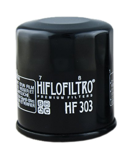 Hiflofiltro HF303-2 Black 2 Pack Premium Oil Filter, 2