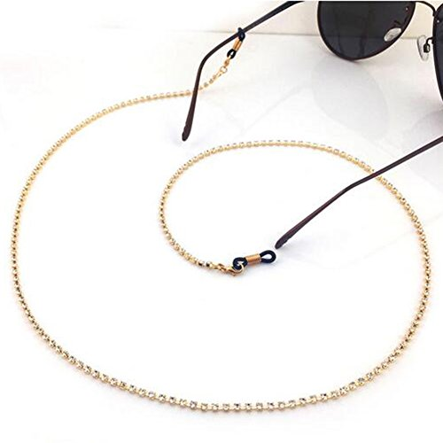 Imixlot Crystal Embellishment Glasses Sunglasses Anti-Skidding Neck Chain Decorated
