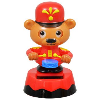 Solar Powered Dancing ~ Holiday ~ LITTLE DRUMMER BEAR ~ 2015 ()