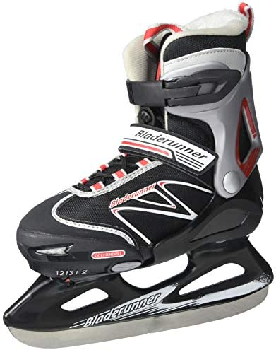 Rollerblade Bladerunner Ice – Micro XT Ice – 4-Size Adjustable Ice Skate – Youth – Black Red Size 2 to 5, Size 2-5