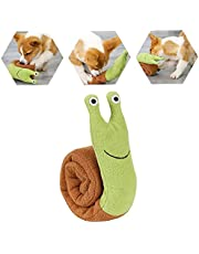 Hainice Interactive Pet Puppy Toys Snails Dog Snuffle Feeding Chew Squeaky Toys Stress Release Game Tools for Puppy Large and Medium Dogs