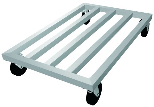 Lockwood MDR-2448-6 Aluminum Mobile Dunnage Rack with Swivel Casters, 1600 lbs Load Capacity, 48'' Length x 24'' Width x 9'' Height by Lockwood