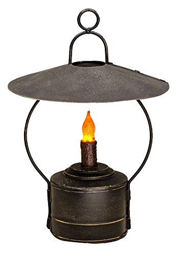 CWI Gifts Rustic Hanging Nook Lantern in Distressed Black Metal, 8″