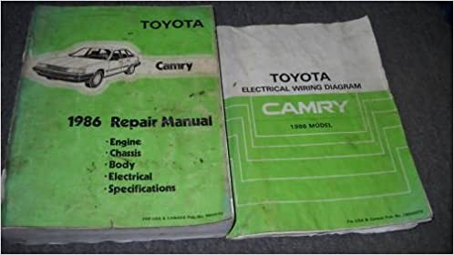 1986 toyota camry service repair shop workshop manual set 86 w wiring  diagram: toyota: amazon com: books