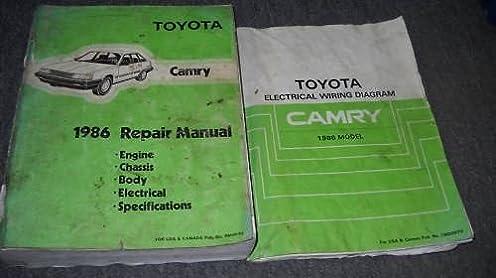 1986 toyota camry service repair shop workshop manual set 86 w