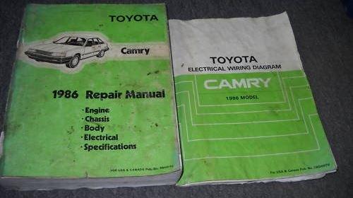 1986 Toyota Camry Service Repair Shop Workshop Manual Set 86 W Wiring Diagram Toyota Amazon Com Books