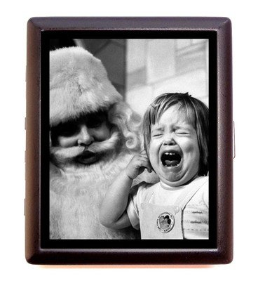 Amazon funny retro kitsch kid scared of santa business card funny retro kitsch kid scared of santa business card wallet cigarette case colourmoves
