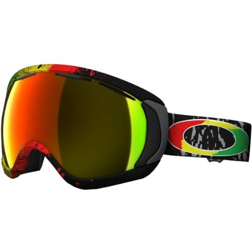 Oakley Tanner Hall Canopy Rasta Mane Men's Special Editions Signature Series Skiing Snowmobile Goggles Eyewear - Fire Iridium / One Size Fits All