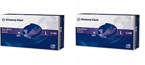 キンバリークラーク安全55083ニトリル手袋、パウダーフリー、L、パープル(パックof 100 ) 2-(Pack of 100) B07FYPW7GS  2-(Pack of 100)