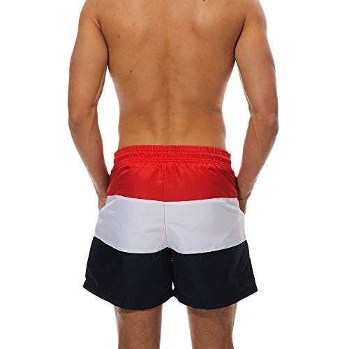623d1e871d512 ... JJLIKER Men Striped Elastic Waist Drawstring Shorts Causal Beach Shorts  Lightweight Slim Fit Summer Pants swith ...