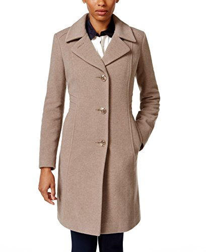 Anne Klein Women's 10% Cashmere Notch Collar Walker Taupe 6 - Anne Klein Cashmere