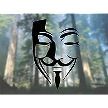Anonymous Mask - Vinyl Decal - Car Phone Helmet - SELECT SIZE