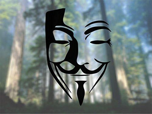 Anonymous Mask - Vinyl Decal - Car Phone Helmet - SELECT SIZE ()