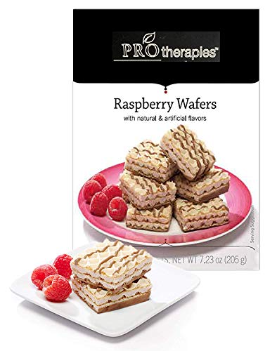 ProTherapies High Protein Wafer Bars 15g - Low Carb Raspberry Wafer Bar for Healthy Diets, 5 Count