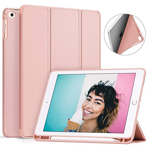 Ztotop Newest iPad 9.7 Inch 2018 Case with Pencil Holder - Lightweight Soft TPU Back Cover and Trifold Stand with Auto Sleep/Wake