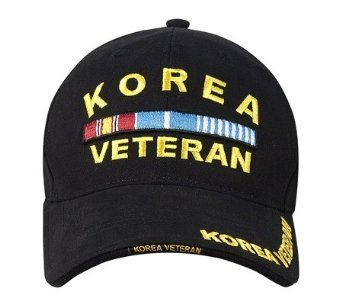 KOREA VETERAN - Military Gear - Black Baseball Cap / Hat One Size Fits All