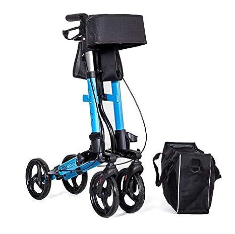 Elite Care X Cruise - Andador plegable ligero y compacto con asiento - Azul