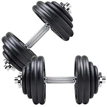 ScSports - Juego de mancuernas, 60 kg, acero fundido: Amazon.es ...