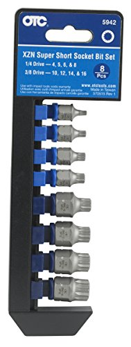 (OTC 5942 8-Piece XZN 'Super Short' Socket Bit Set)