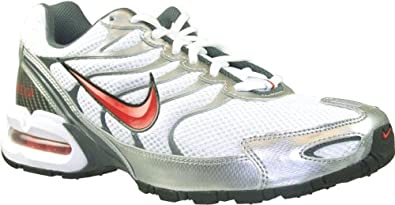 ... nike mens nike air max torch 4 running shoes 12 white sprt red black  silver