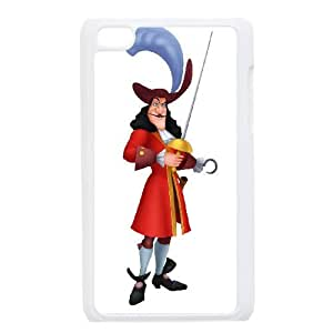 iPod Touch 4 Case White Disney Peter Pan Character Captain Hook Vkeop