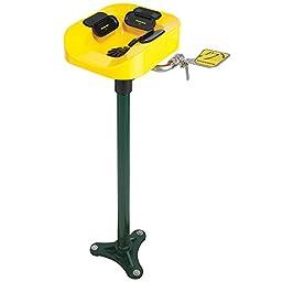 Speakman SE-1100 Plastic 100 lb. Capacity Optimus Eye and Face Wash Bowl Pedestal Mount System, Yellow, 14.50\