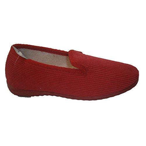 Chaussure plate Corduroy Soca en rouge