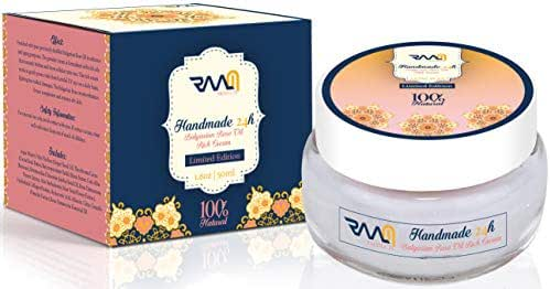 Handmade 24H - Bulgarian Rose Oil Rich Cream | limited edition | Anti aging & skin firming | 100% Natural | 50 ml - by RAAM