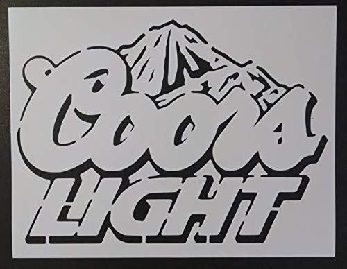 Custom Stencil Coors Light Mountains Beer 8.5 x 11
