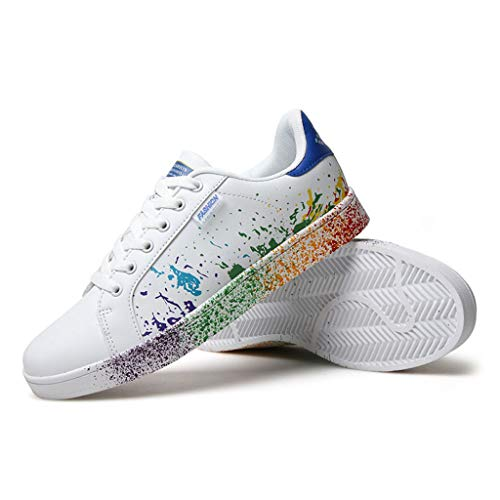 687c5ae75403c Fashion!! Men Casual Shoes Women's Couple Colorful White Shoes Mens Sport  Board Shoes Sneakers for Running Walking