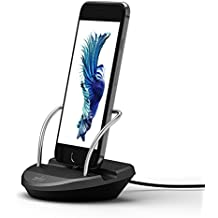 iPhone Stand Charging Dock Desk Station Holder Easy Desktop Charging Station for iPhone 7 /7Plus/SE/6S Plus/6/6Plus/5S/5 (Space Grey)