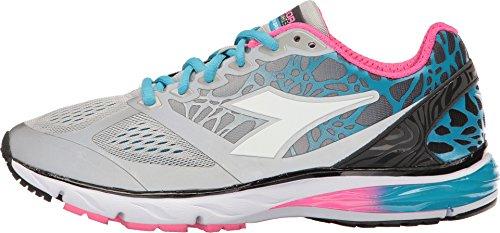 C0519 Sneaker Bianco bright Donna Argento Diadora blushield Running Scarpa Scarpe white Jogging Mythos Silverio w w7S1q