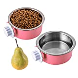 Ordermore Hanging Dog Bowl,Stainless Steel