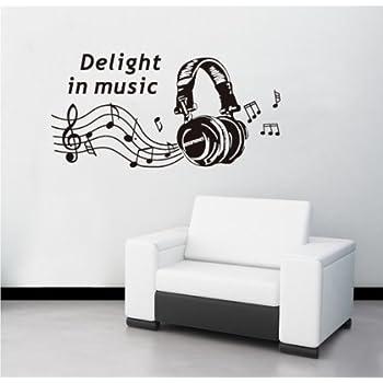 Createforlife Wallpaper Home Decoration Wall Art Fashion Sticker Headphone  Music Part 61