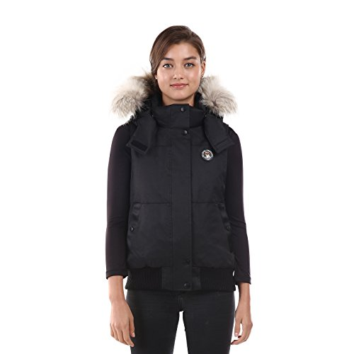 Triple F.A.T. Goose Saga Collection | Huntley Womens Down Vest (Large, Black) by Triple F.A.T. Goose