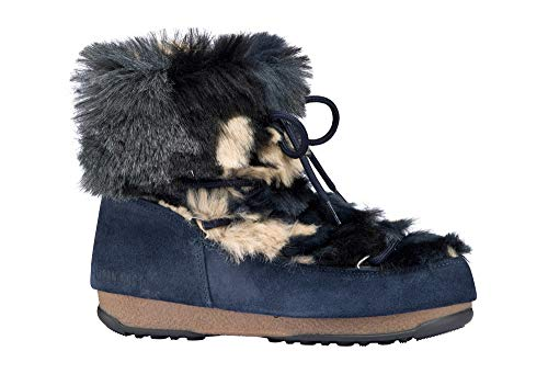 Tecnica Women's Moon Boot WE Low Fur-W, Blue, 39 EU/8 M US