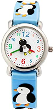Kids Watches - Cartoon Penguin Watch Silicone Quartz Watch Creative Wrist Watch Fashion Casual Watch for Kids