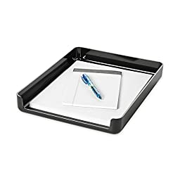 Rolodex Image Series Black Front Load Stacking Desk Tray (15701)